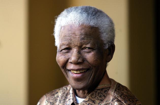 Portrait de Nelson Mandela pris à Johannesbourg, en Afrique du Sud, le 14 juin 2005. AFP