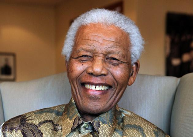 Portrait de Nelson Mandela, le 25 août 2010. AFP