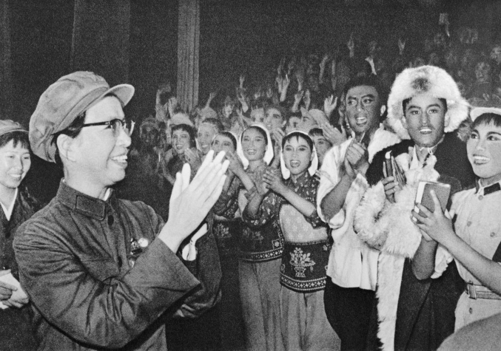 Portrait of Chiang Ching Talking with Professionals of Liberation Army