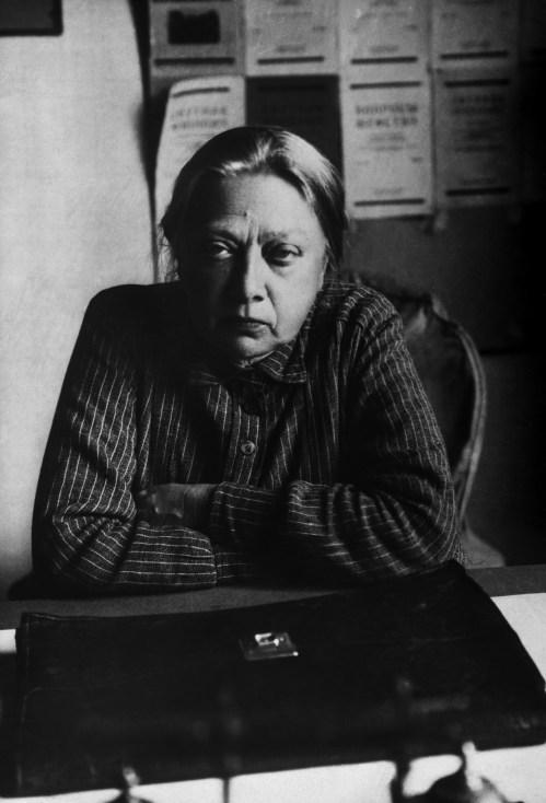Nadezhda Krupskaya Sitting at Her Desk.