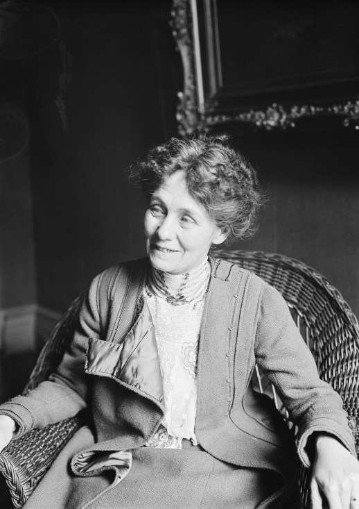 Emmeline Pankhurst Seated & Smiling