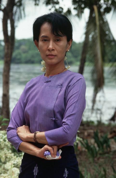 Burmese Political Leader Aung San Suu Kyi