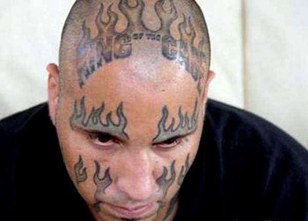 Préférence 30 tatouages faciaux que vous ne vous ferez jamais ! - La banane  FB34