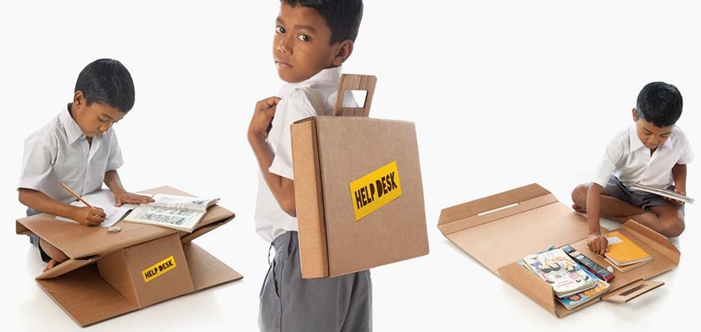 labananequiparle-carton-recyclé-bureau-cartable-inde-1