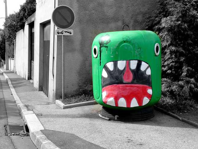 labananequiparle-street-art-rue-vide-ordure