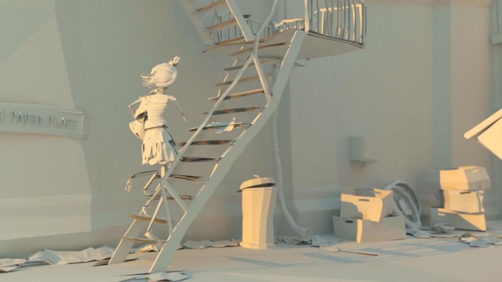 escalier-femme