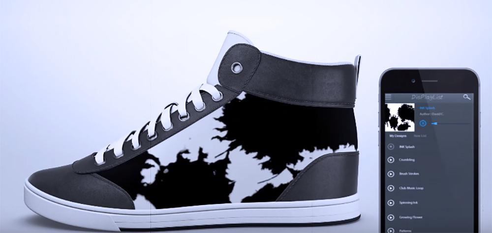 labananequiparle-shiftwear-chaussures-dont-vous-pouvez-changer-l-apparence-temps-reel-votre-smartphone