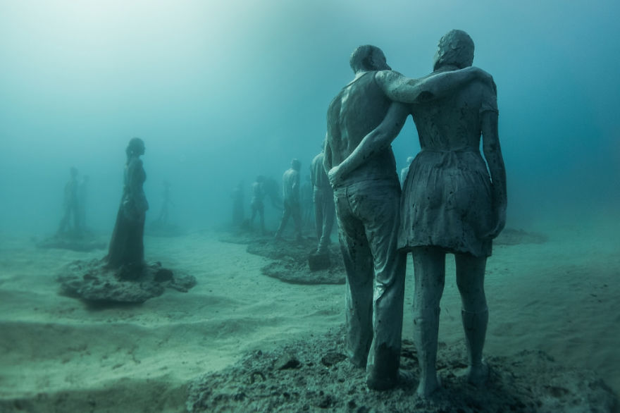labananequiparle-sculptures-musee-sous-marin-canaries